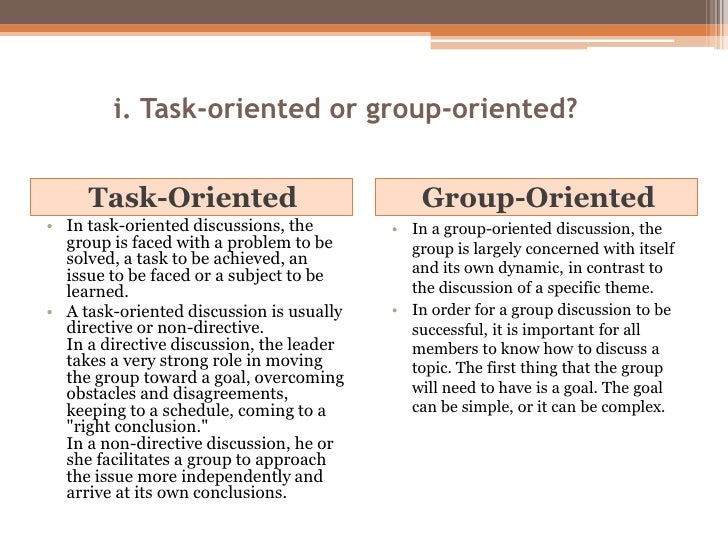 group oriented