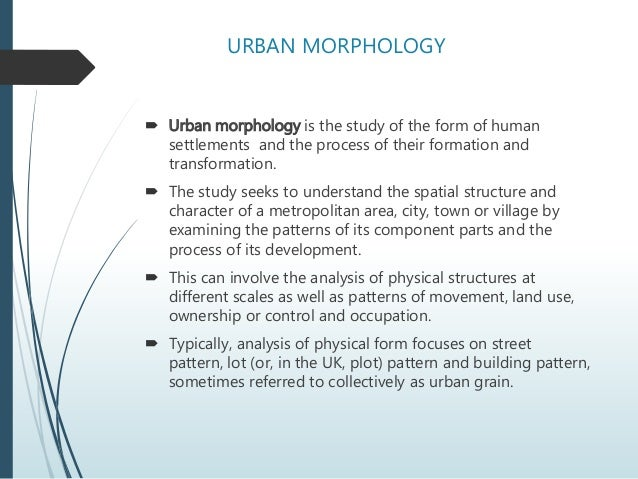 Urban Morphology  Elements Of Urban Design