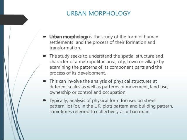 Urban Morphology Elements Of Design