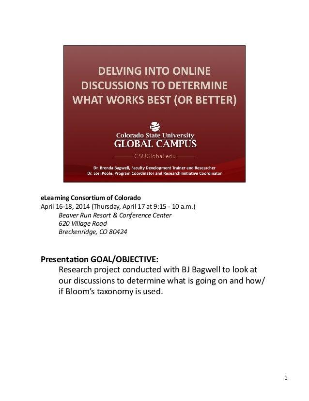 eLearning  Consor,um  of  Colorado   April  16-‐18,  2014  (Thursday,  April  17  at  9:15  -‐ ...