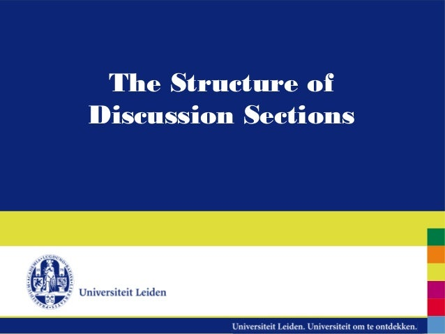 The Structure ofDiscussion Sections