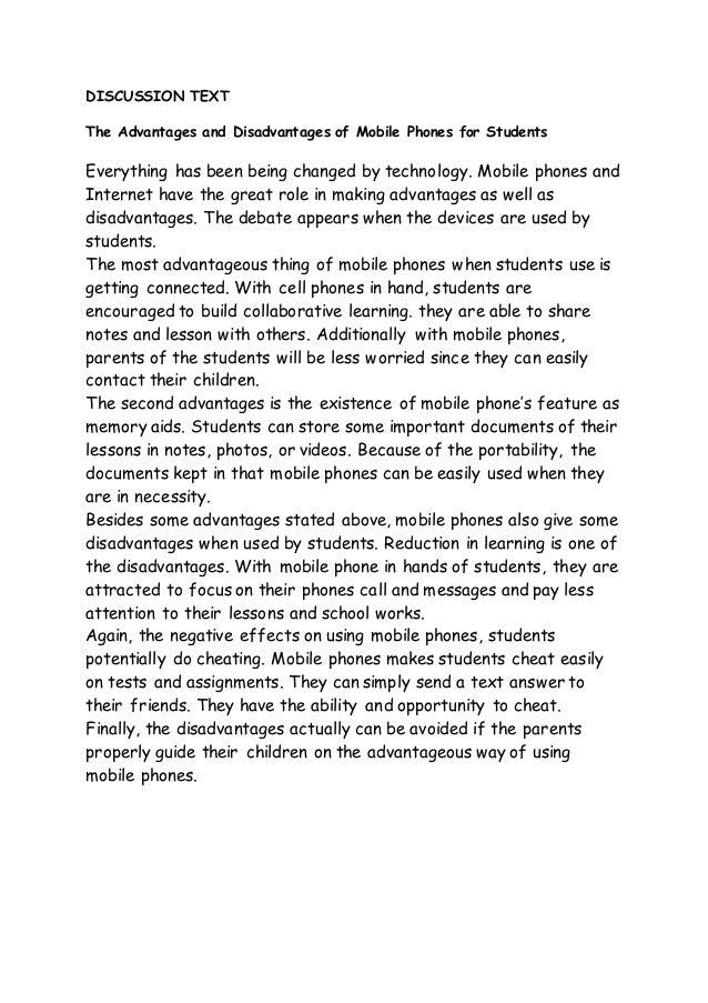 English essay mobile phones advantage