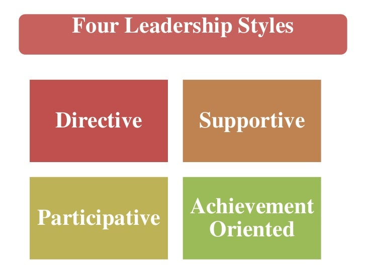 the 4 leadership styles Other leadership styles other leadership styles that are popular in a number of fields, or that have been popular in the past include: 4 situational leadership.