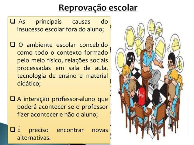 Estudos foram feitos na década de 60; Recaíam sempre para o aluno, situação familiar, social ou econômica; Professor e ...