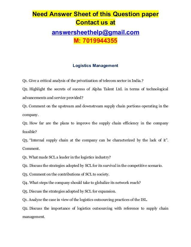 Logistics Management for International Businesses