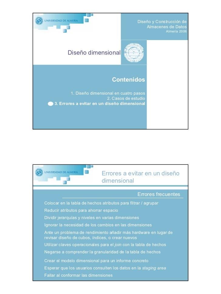 Diseño y Construcción de                                                       Almacenes de Datos                         ...