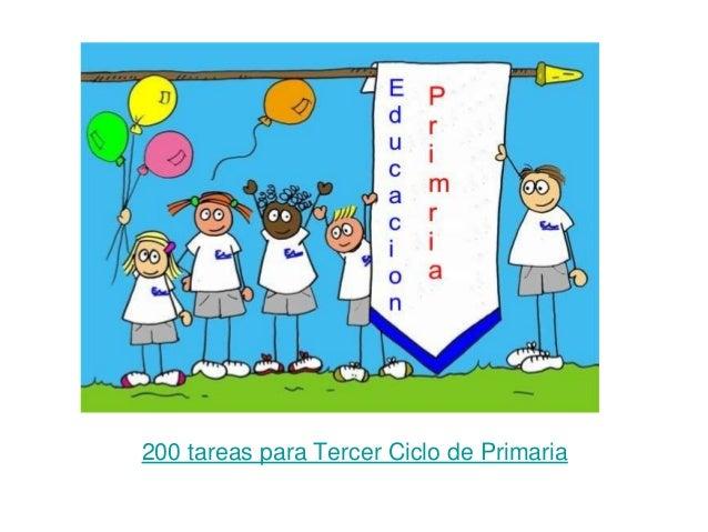 200 tareas para Tercer Ciclo de Primaria