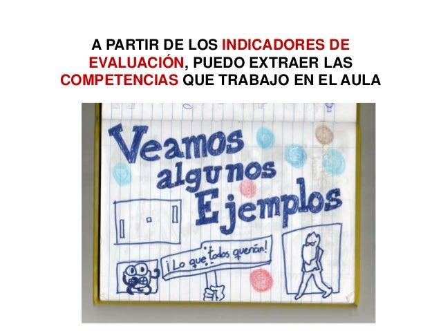 A PARTIR DE LOS INDICADORES DE EVALUACIÓN, PUEDO EXTRAER LAS COMPETENCIAS QUE TRABAJO EN EL AULA