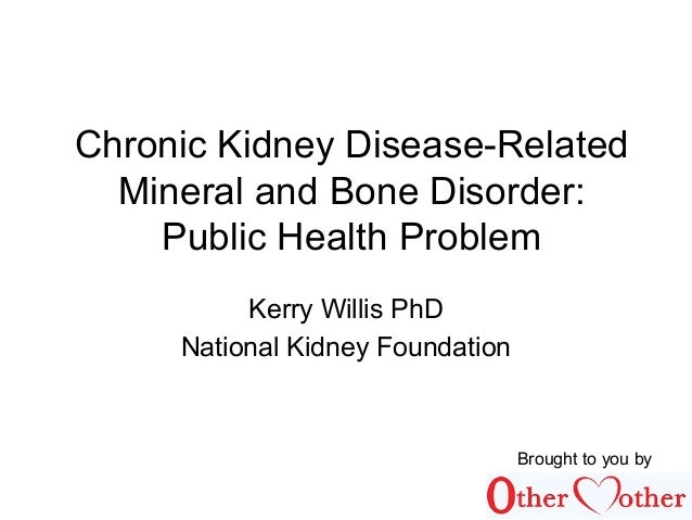 Chronic Kidney Disease-Related Mineral and Bone Disorder: Public Health Problem Kerry Willis PhD National Kidney Foundatio...