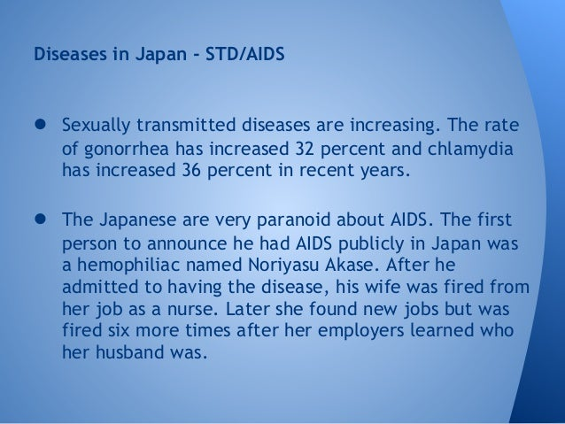 New sexually transmitted disease in japan