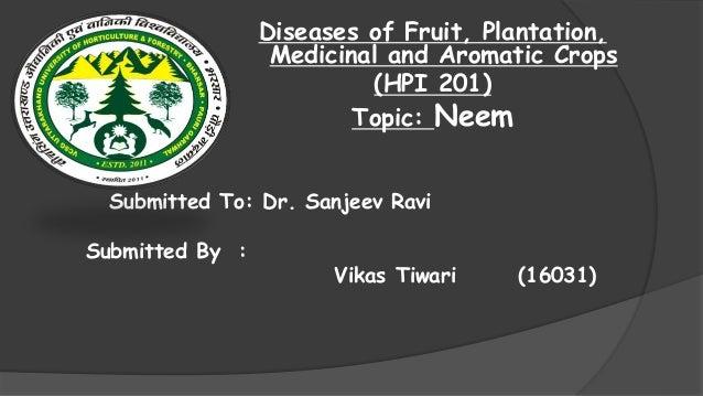 Diseases of Neem