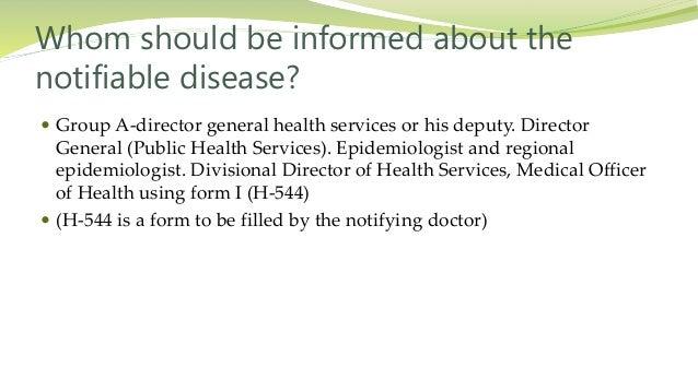 Disease notification system in Sri Lanka