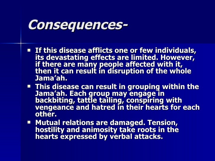 Consequences-Consequences-  If this disease afflicts one or few individuals,If this disease afflicts one or few individua...