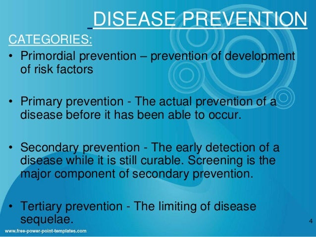 primary secondary tertiary natural disaster nursing prevention This intervention can occur at any time during the natural history of the disease or health-related event three levels of prevention have been identified: primary prevention secondary prevention tertiary prevention the table below illustrates the relationship between the stages of the natural history of a disease and the.
