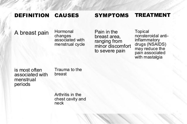 Hormonal changes breast pain