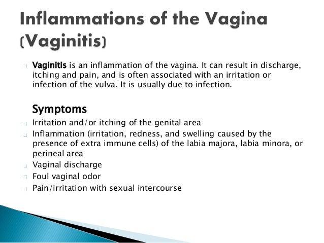 Swelling and pain around vulva