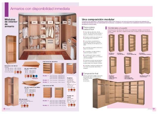 cerezo y roble with modulos de armarios empotrados