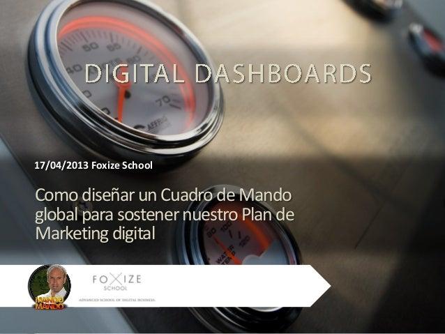 17/04/2013 Foxize SchoolComo diseñar un Cuadro de Mandoglobal para sostener nuestro Plan deMarketing digital              ...
