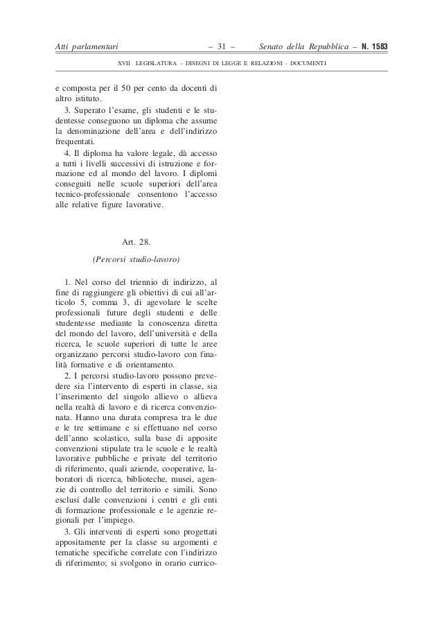 Disegno legge 1583 senato for Senato della repubblica indirizzo