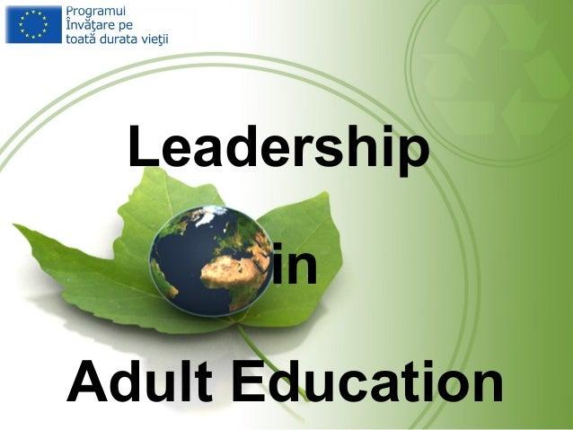Leadership in Adult Education
