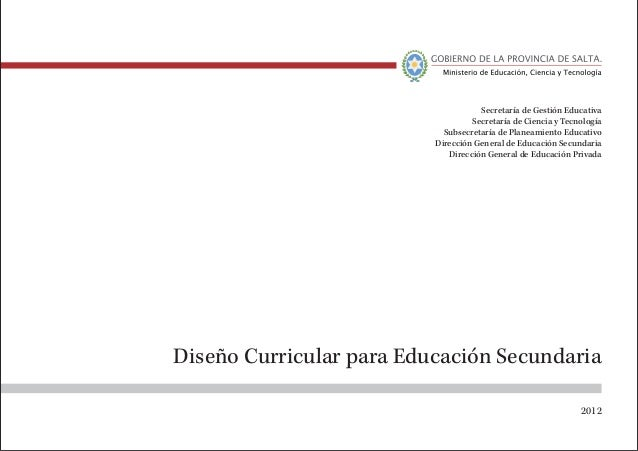 dise o curricular educacion secundaria On diseno curricular secundaria