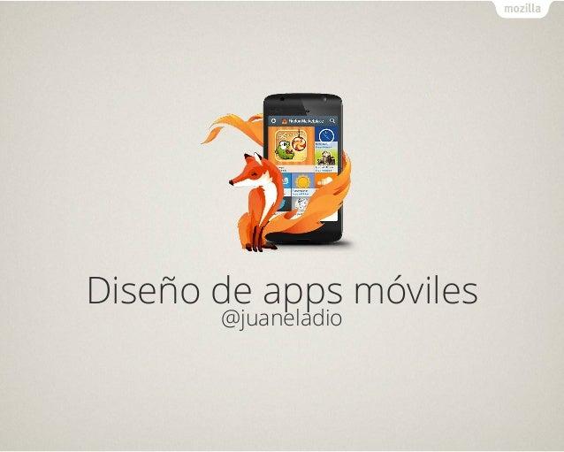 Text Diseño de apps móviles @juaneladio