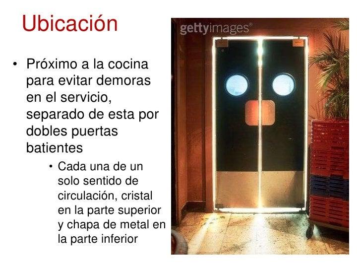 Diseno de areas de servicio for Puertas de cocina de restaurante