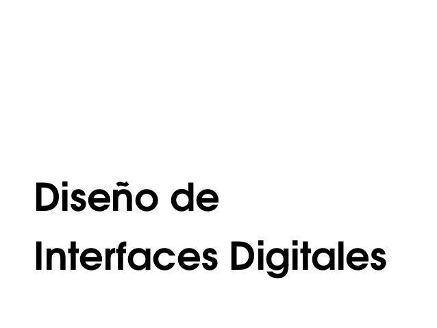 Diseño de Interfaces Digitales