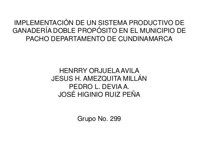IMPLEMENTACIÓN DE UN SISTEMA PRODUCTIVO DE GANADERÍA DOBLE PROPÓSITO EN EL MUNICIPIO DE PACHO DEPARTAMENTO DE CUNDINAMARCA...