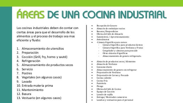 Primera investigacion cocinas industriales seccion 01 for Areas de un restaurante