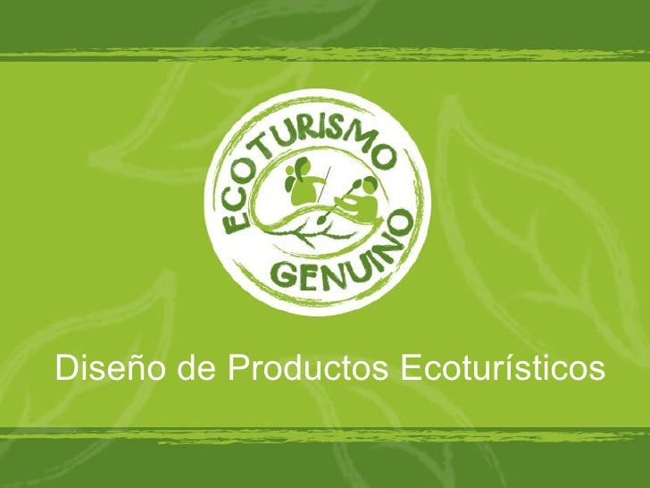 Diseño de Productos Ecoturísticos