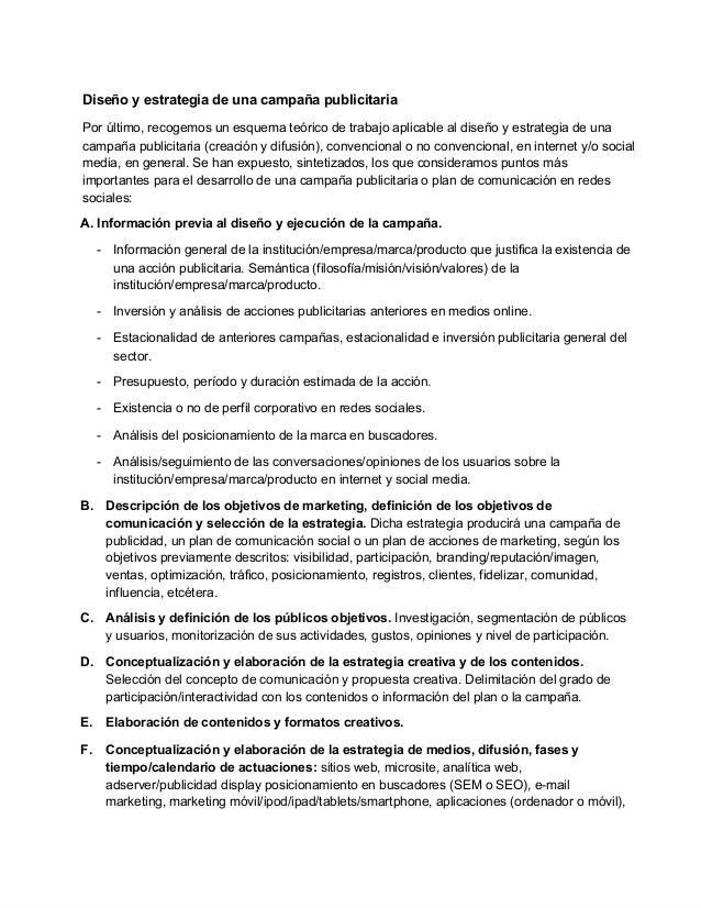 Diseñoyestrategiadeunacampañapublicitaria Porúltimo,recogemosunesquemateóricodetrabajoaplicablealdiseñoy...
