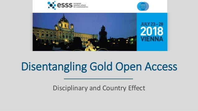 Disentangling Gold Open Access Disciplinary and Country Effect