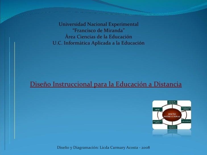 """Universidad Nacional Experimental                 """"Francisco de Miranda""""              Área Ciencias de la Educación       ..."""