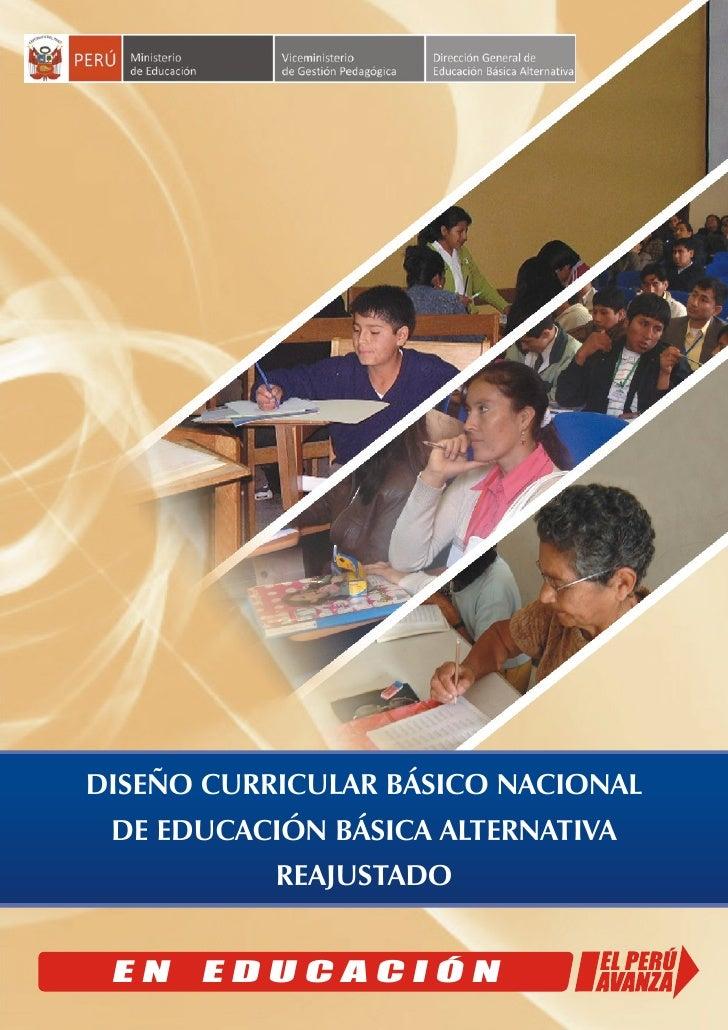 Dise o curricular b sico nacional eba reajustado for Diseno curricular educacion primaria