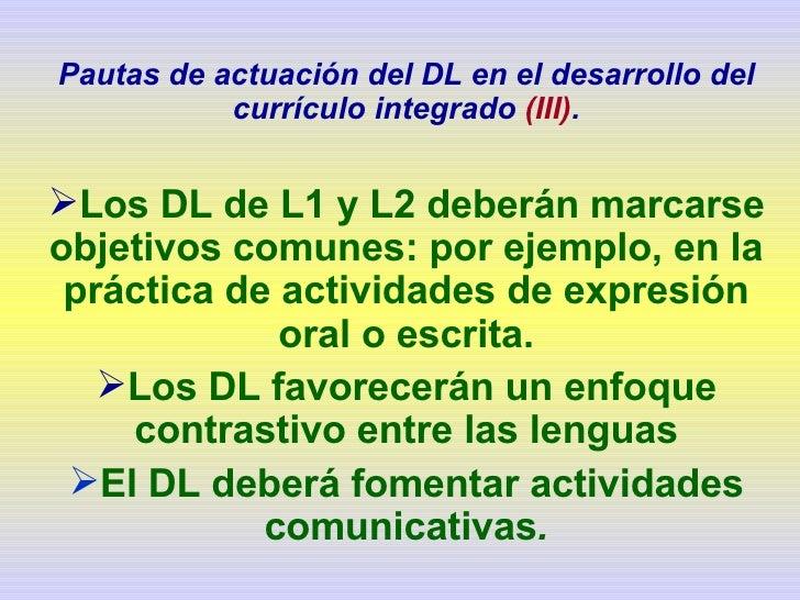 Diseño curricular para la enseñanza bilingüe
