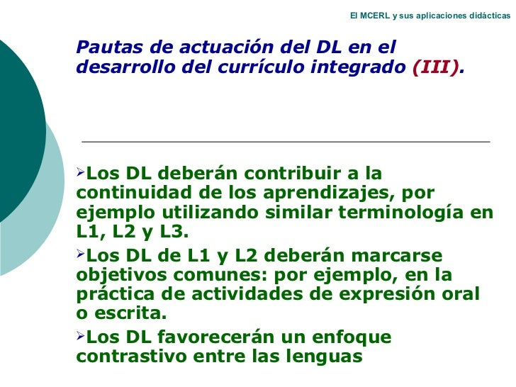 Diseño del currículo integrado