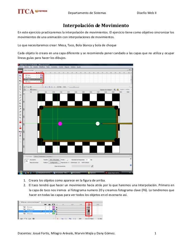Departamento de Sistemas                          Diseño Web II                                   Interpolación de Movimie...