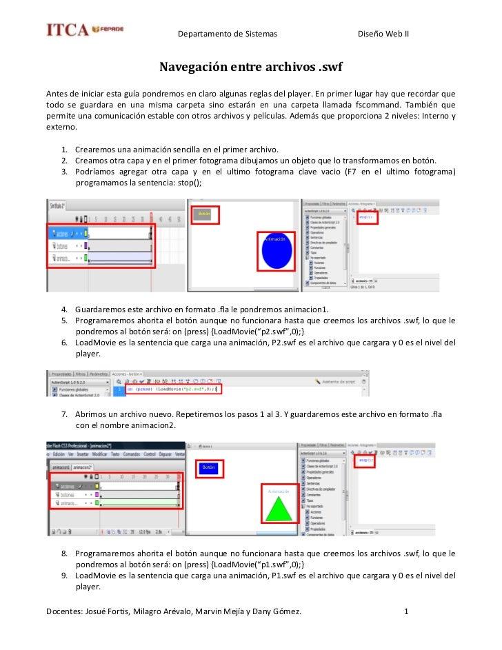 Departamento de Sistemas                       Diseño Web II                                 Navegación entre archivos .sw...