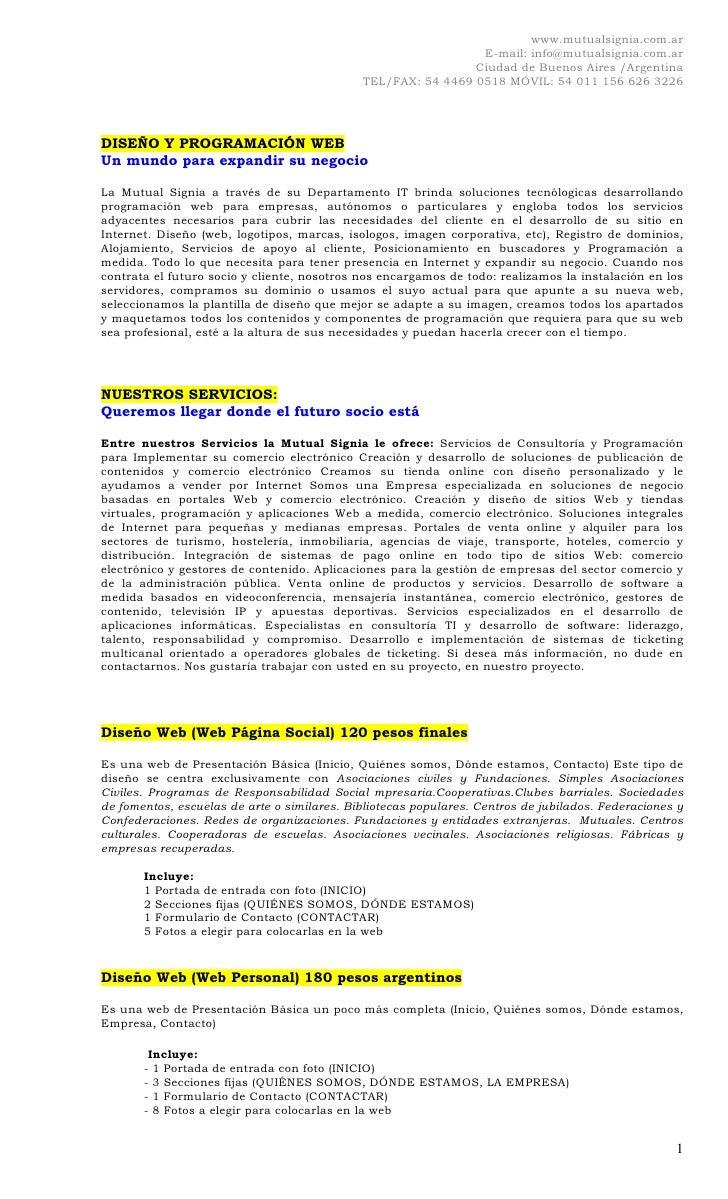 www.mutualsignia.com.ar                                                                E-mail: info@mutualsignia.com.ar   ...