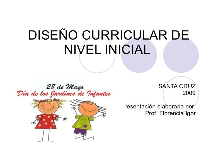 dise o curricular de nivel inicial On curriculum de nivel inicial