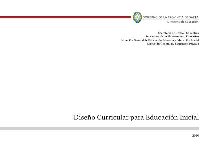 Dise o curricular educaci n inicial for Diseno curricular para el nivel inicial