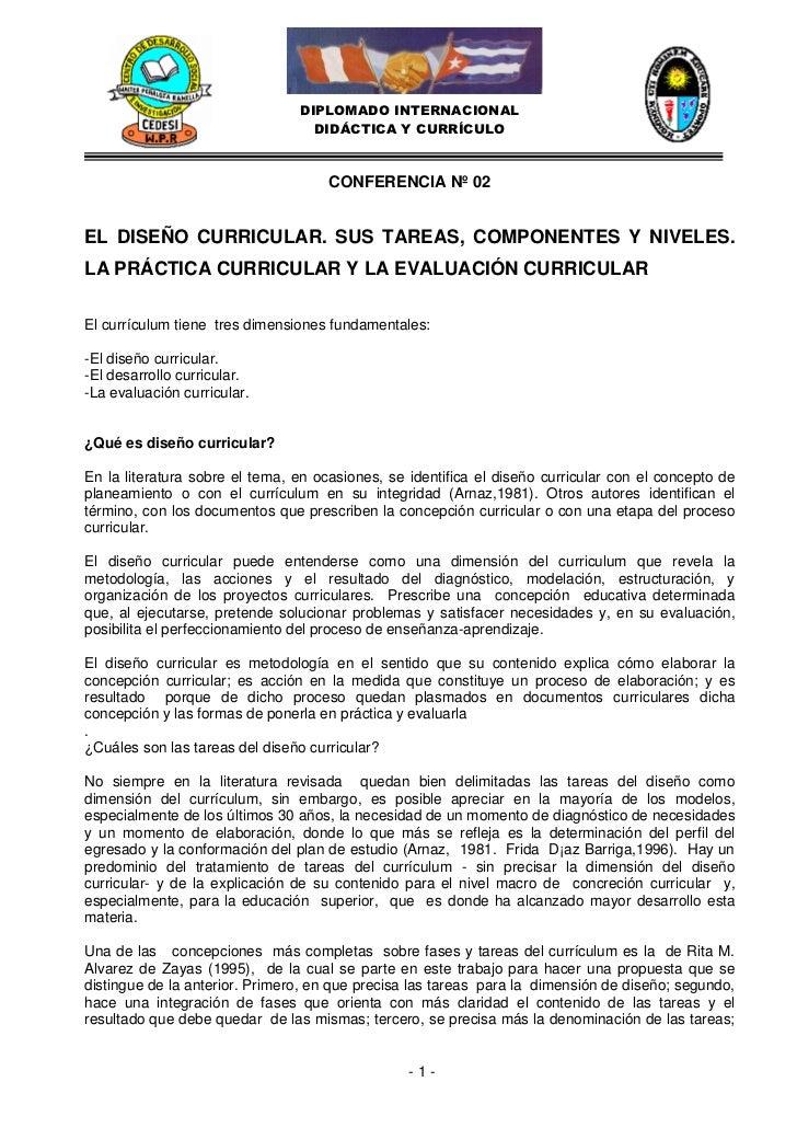 DIPLOMADO INTERNACIONAL                                  DIDÁCTICA Y CURRÍCULO                                     CONFERE...