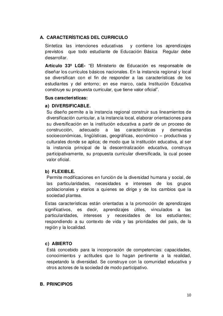 Diseno Curricular Nacional Peru