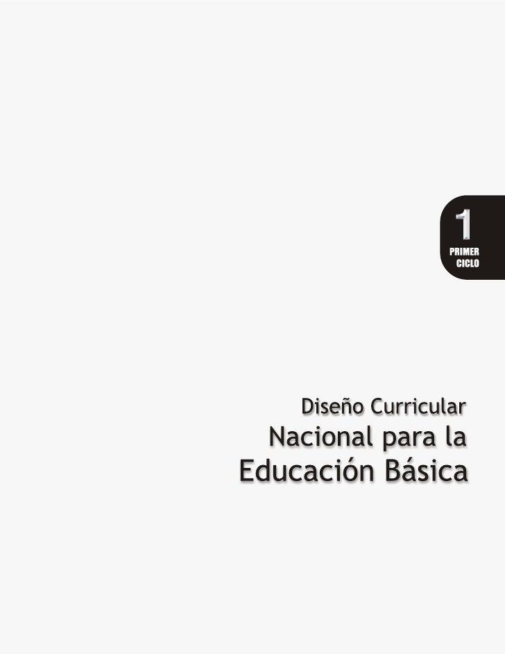 Dise o curricular nacional ciclo1 for Diseno curricular educacion primaria