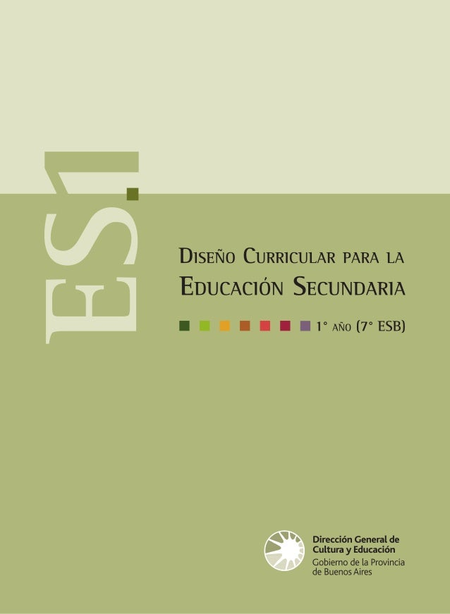 Diseño Curricular Para La Educ Secundaria 1 Res 3233