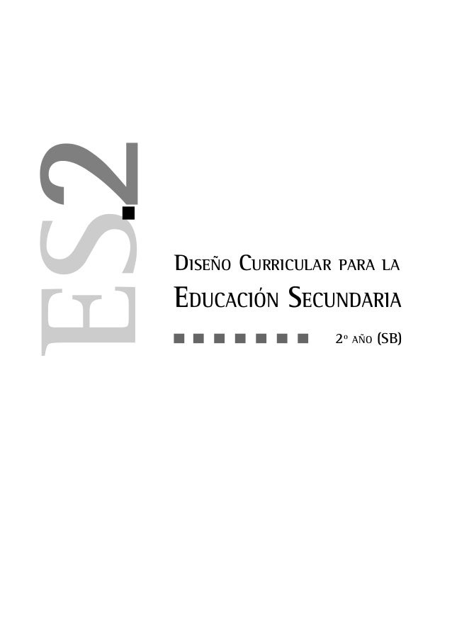 dise o curricular para la educ secundaria 2 res 2495 97 On diseno curricular secundaria