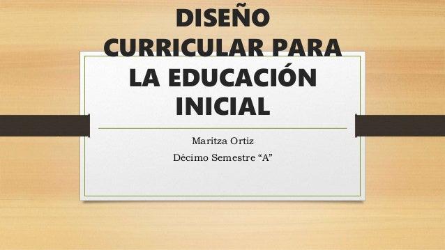 Dise o curricular para la educaci n inicial for Diseno curricular educacion inicial