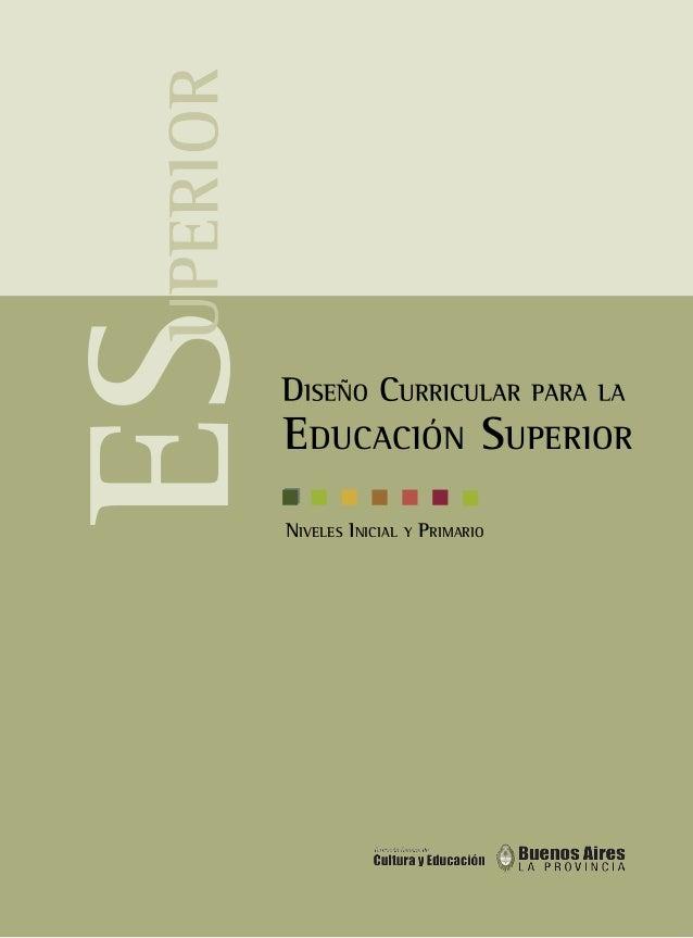 EDUCACIÓN SUPERIOR  NIVELES INICIAL Y PRIMARIO