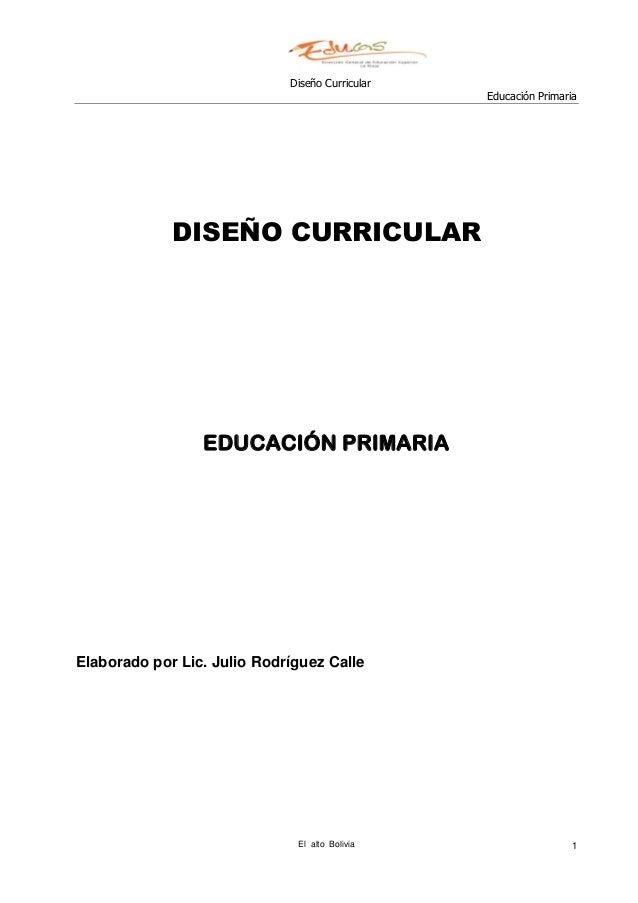 Diseño Curricular Primaria